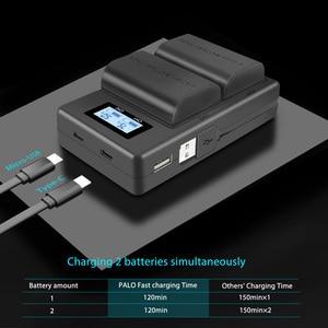 Image 4 - Palo lcd duplo usb carregador LP E6 lp e6 lpe6 câmera carregador de bateria para canon 5d mark ii iii 7d 60d eos 6d 70d 80d câmera