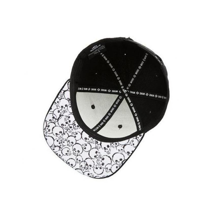 COKK de los hombres del sombrero del Snapback de Hip Hop gorra hombre mujer  bordado cráneo gorra de béisbol sombreros para hombres Fiesta Club kpop sol  ... 5d272ca76da
