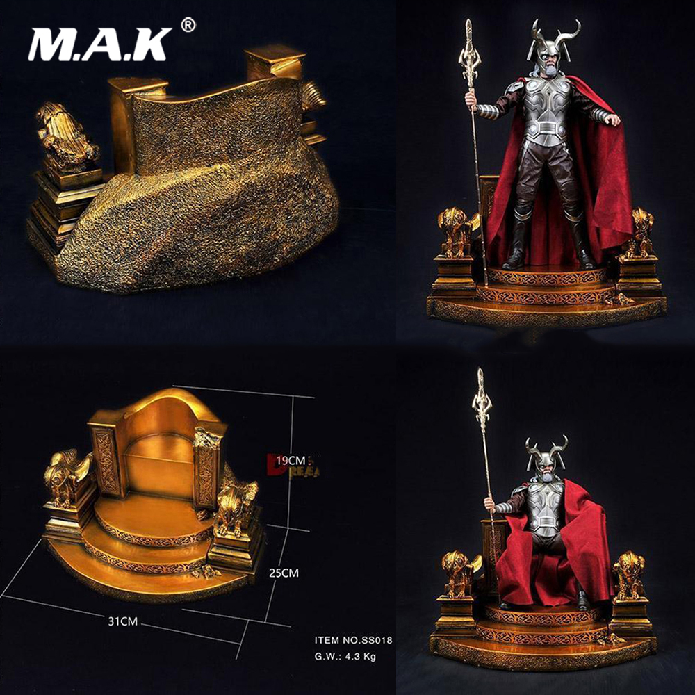 1 6 Scale Base Station Gold Throne SS018 Display Scene Accessories for 12 Action Figure Model