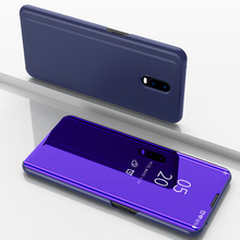 Smart Flip Case For OPPO R17 Clear View Leather Cover Stand Mirror R 17 flip case