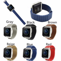 For Fitbit Blaze Watch Band Leather Loop Magnet Lock Strap Band For Fitbit Blaze Tracker Smart