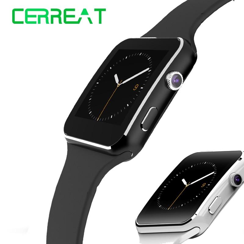 """imágenes para X6 caliente Bluetooth Smartwatch 1.54 """"pulgadas IPS HD Inteligente Reloj Del Ritmo Cardíaco Rastreador de Ejercicios Para IOS Android Reloj Inteligente"""