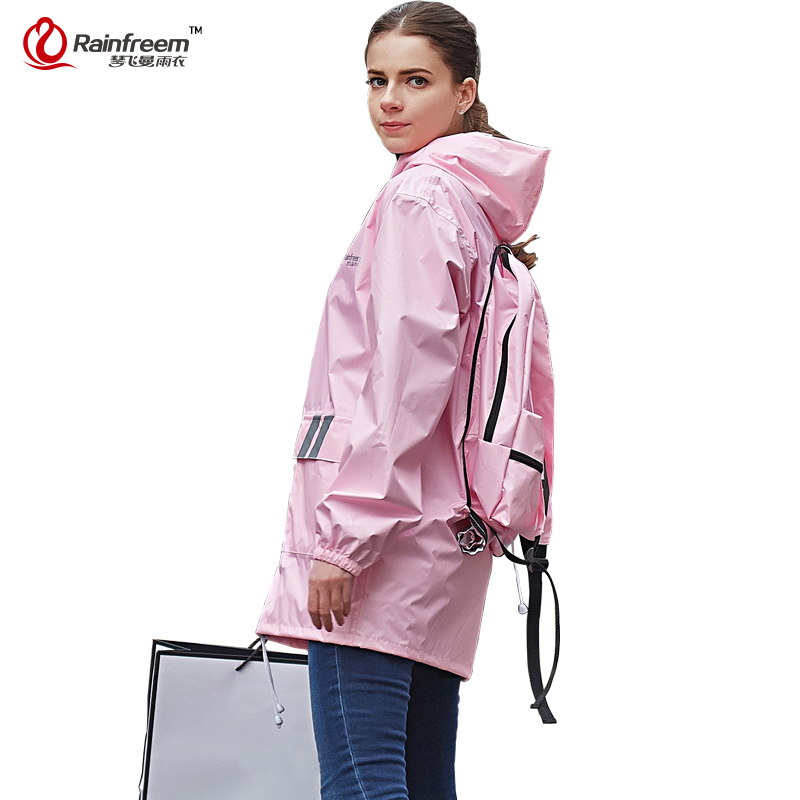 QINFEIMAN Impermeable Cycling Raincoat Women Men Rain Jacket Motorcycle Raincoat Waterproof Rain Poncho Rainwear Rain Gear