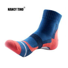 NANCY TINO Mens Outdoor Sport Socks Climbing Hiking Cycling Absorb Sweat Quick Dry Breathable Knee-High Cotton