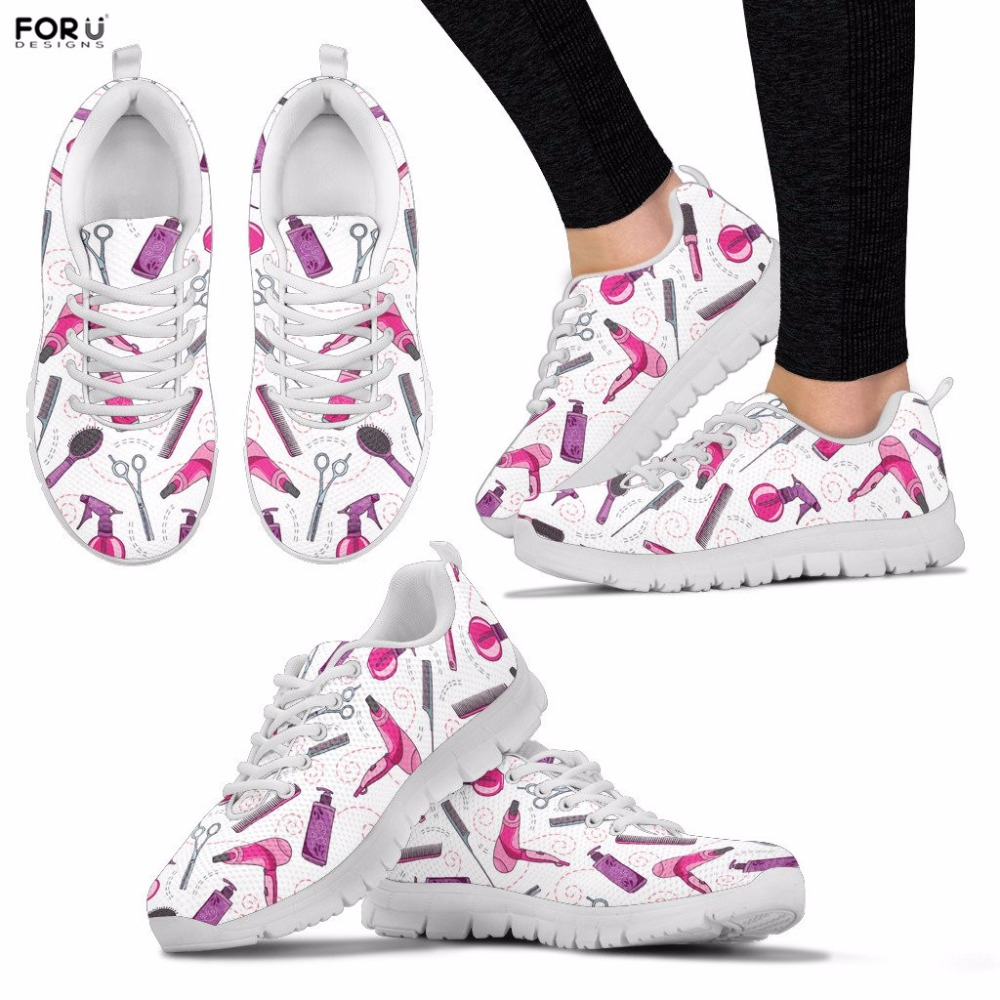FORUDESIGNS Kvinnor Skor Hair Stylist Mönster Sneakers Ladies Spring - Damskor