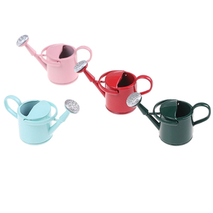 Image 3 - New Arrival 1/12 Metal Watering Can Garden Miniature Decoration For Children Kids Dolls Acces Dollhouse Miniature Furniture