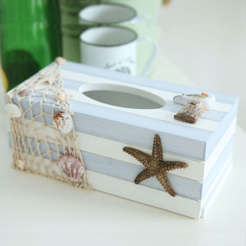 Buy Mediterranean Ocean Wood Tissue Box