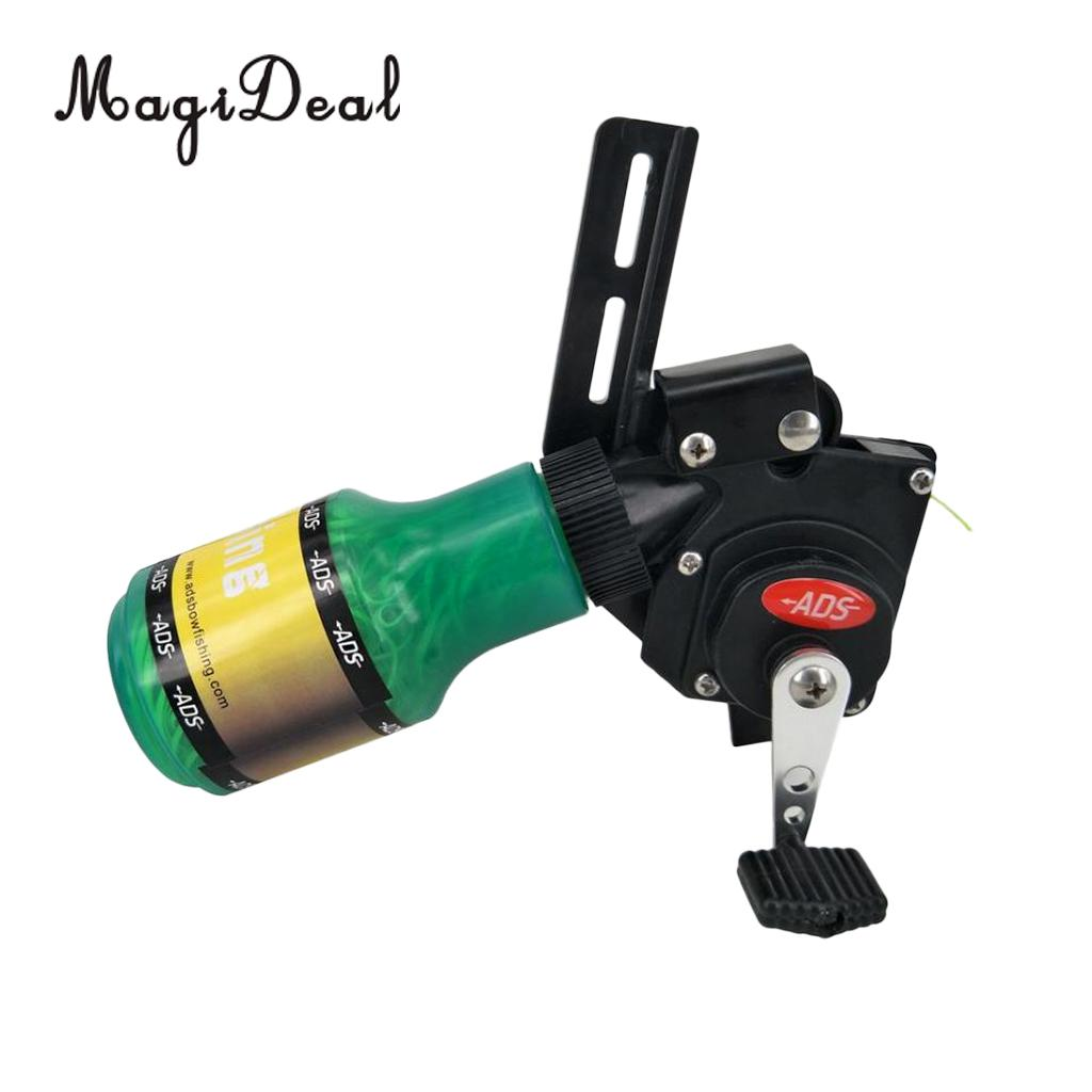 цена на MagiDeal Pro Bow Fishing Reel Compound Bow & Recurve Bow Shooting Hunting Tool - Easy Installation & Adjustment
