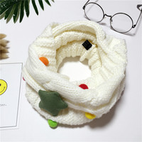 2017Hot Selling Winter Neckerchief Children's Muffler Baby bib Warm Soft Boys Scarves Girls Knitted O Ring ScarfYNDM03