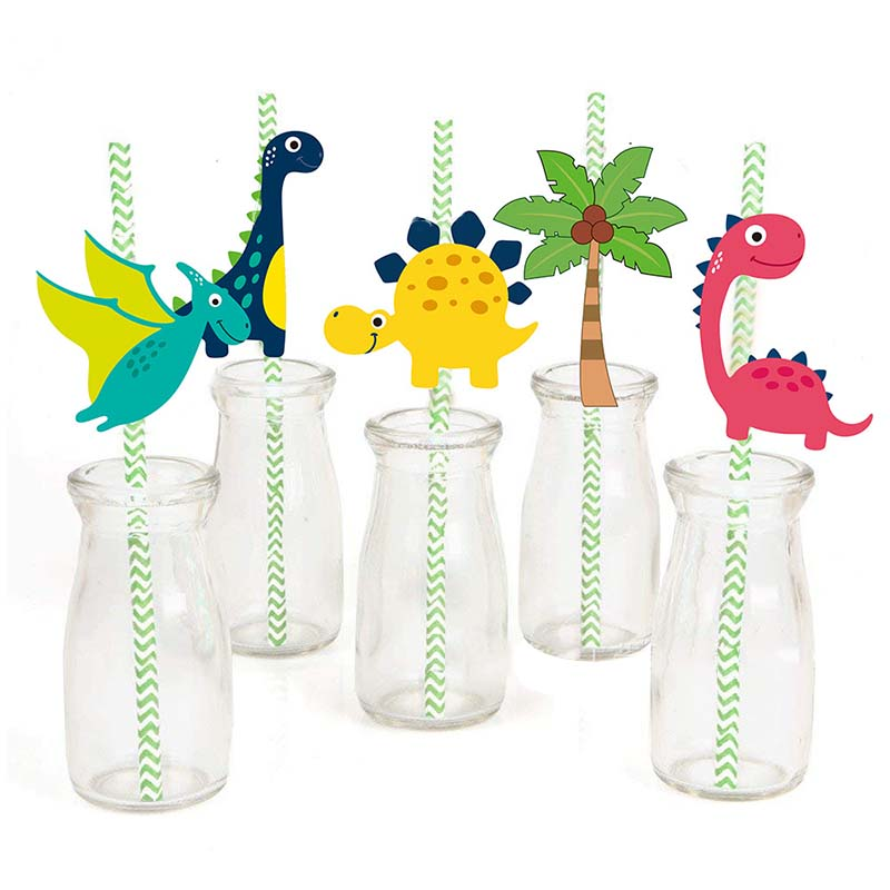 MEIDDING Dinosaur Party Disposable Tableware Will One Boy Kids Birthday Party Supplies Favors Roar Dino Party Balloons Decor in Party DIY Decorations from Home Garden