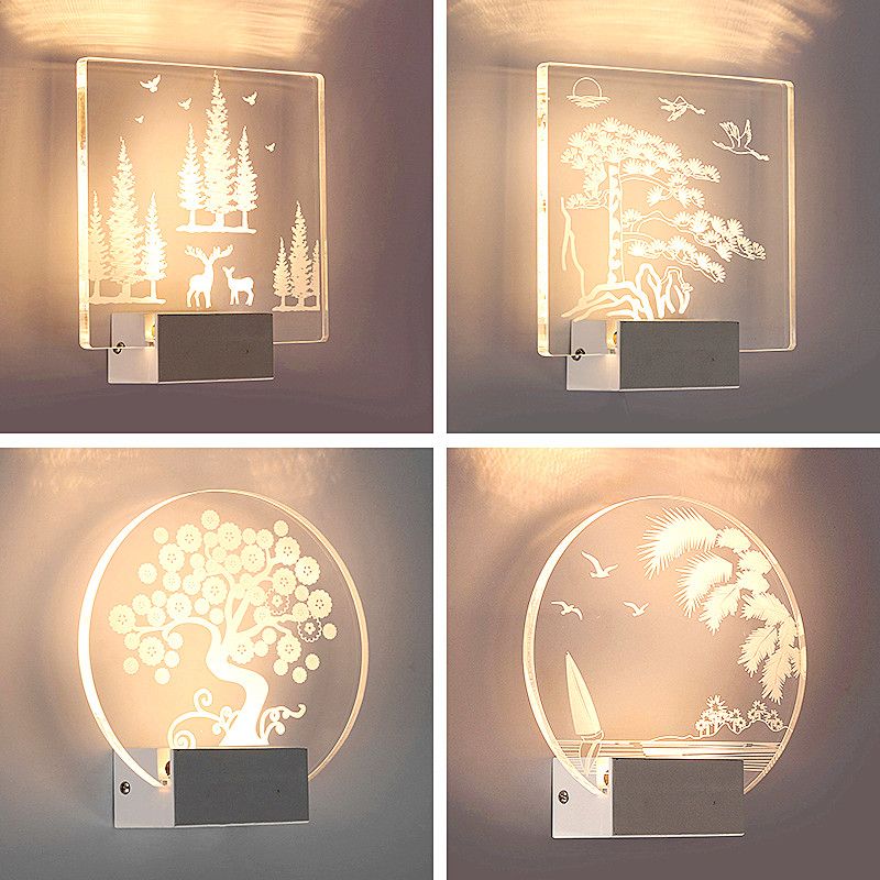 3D Wall Lamp Applique Murale Luminaire Led Light Bathroom Light Wall Lights  For Home Loft Style