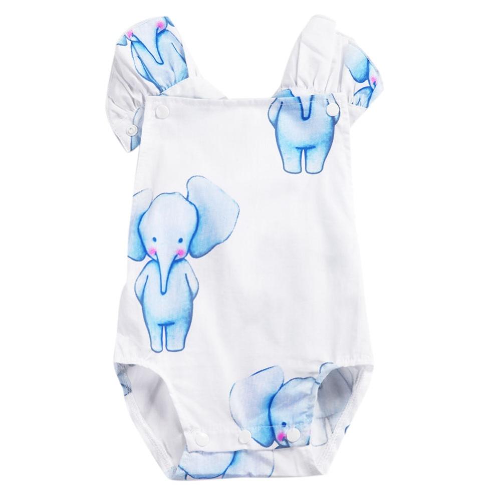 2018 Infantil Baby Girl Romper Elastische Taille Pasgeboren Baby - Babykleding