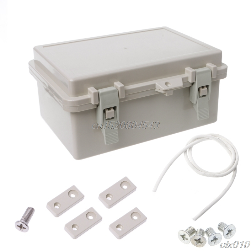 IP65 Waterproof Electronic Junction Box Enclosure Case Outdoor Terminal Cable S08 Drop ship yhlz 8 terminal junction modules term mod mr li