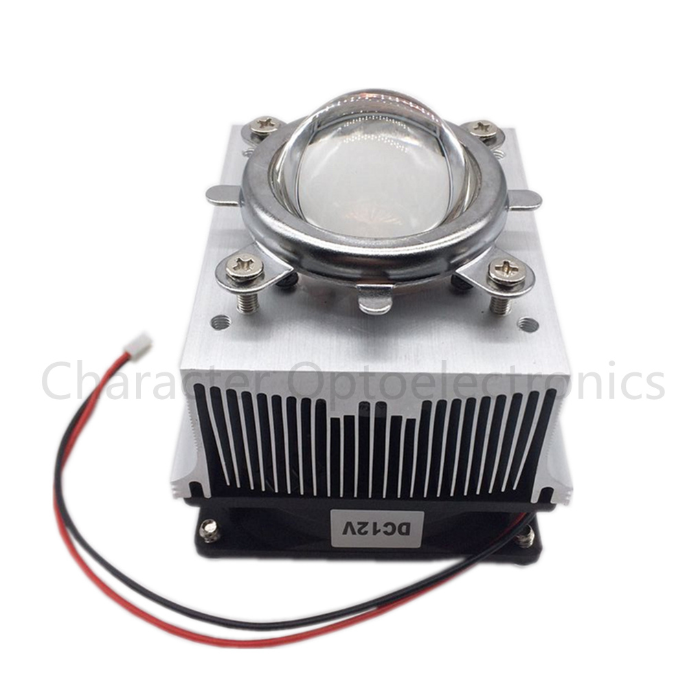 Free delivery 1pc aluminum heat sink cooling fan 20W 50W 100W high power LED lamp 80degree 44mm lens + reflective + bracket lamp free delivery original afb1212she 12v 1 60a 12cm 12038 3 wire cooling fan r00