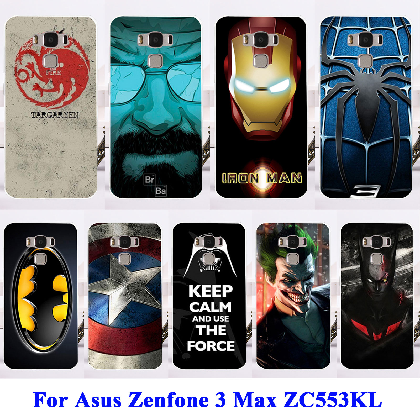 online store 3f07e 8e727 US $1.56 21% OFF|AKABEILA Soft TPU Phone Cases For Asus Zenfone 3 Max  ZC553KL Zenfone3 Max 5.5 inch Captain American Bags Cover Bumper-in Fitted  Cases ...
