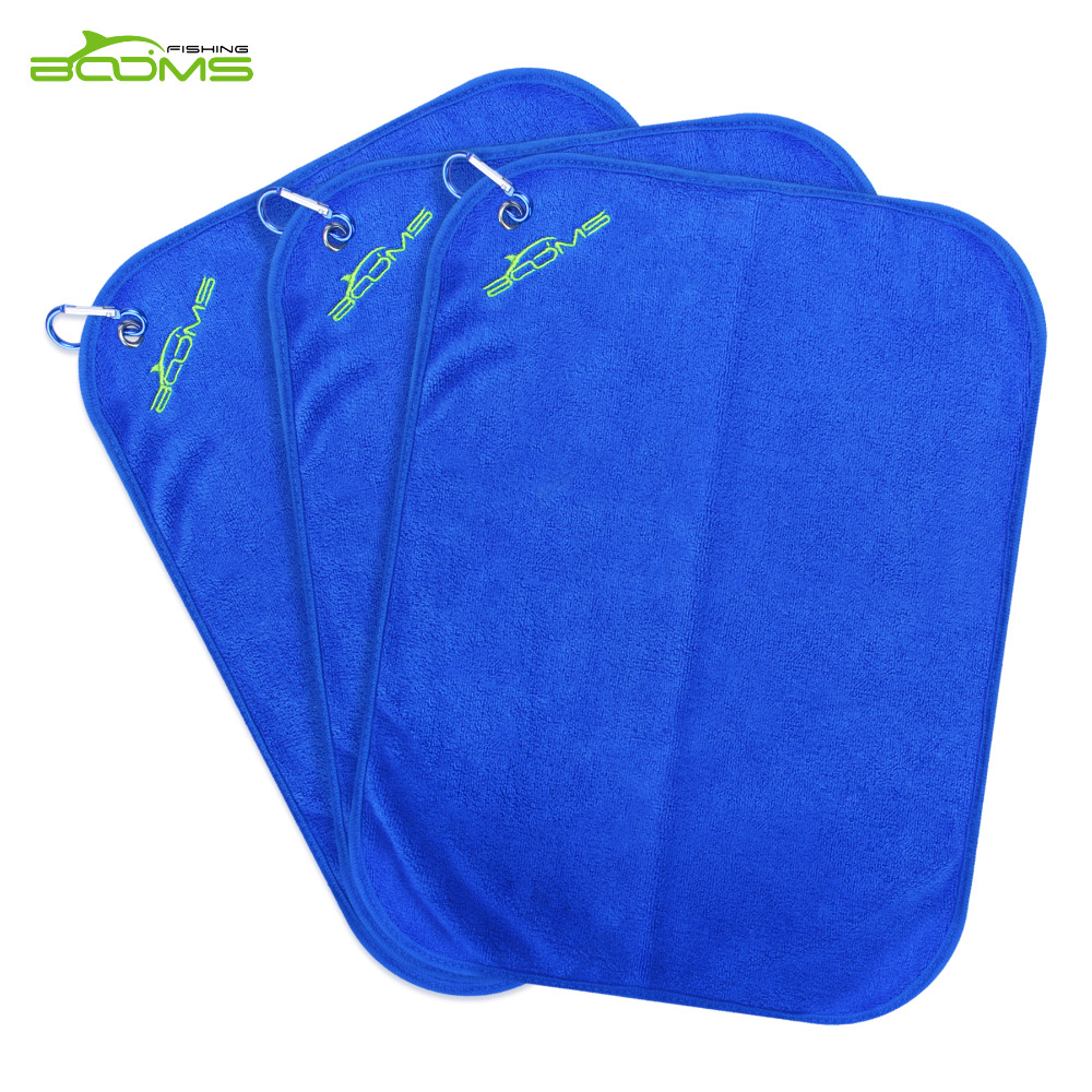 Booms Fishing Microfiber Bait Towel Fishing Towel Blue and Brown Two Color Availiable