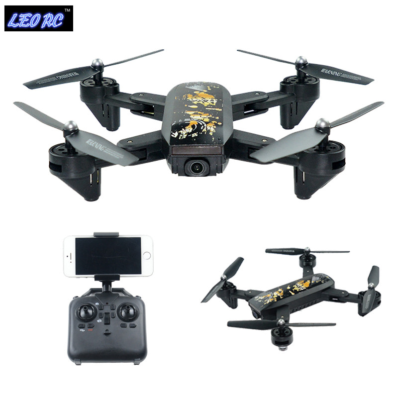 LEO RC New DM107S foldable drone FPV UAV rc drone with 720P 2MP wide angle HD wifi camera leo lionni it s mine