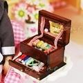 Милые Старинные Швейные Рукоделие Игла Комплект Коробки 1:12 Кукольный Миниатюрный Высота