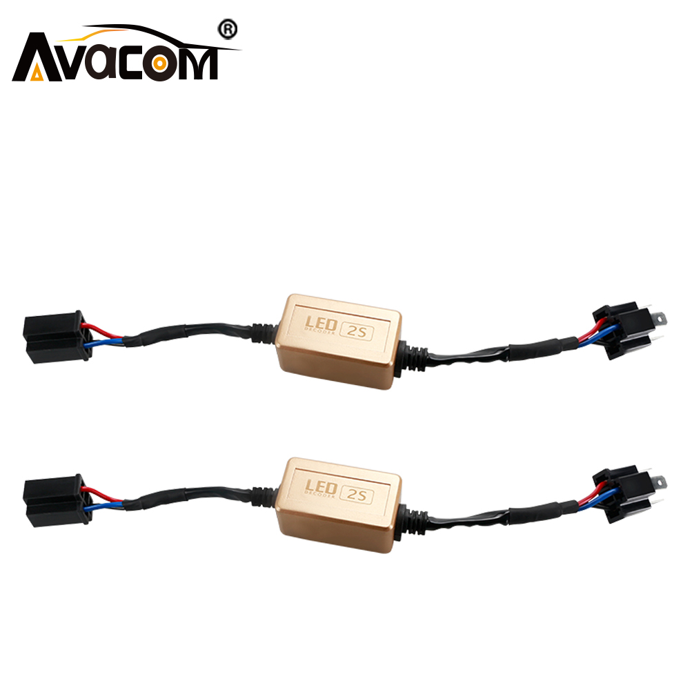 Avacom Error Canbus Decoder for Car Led Headlights H1 H3 H4 H7 H8 H11 H13 9004 HB3 HB4 Error Warning Canceller For Auto Lamp