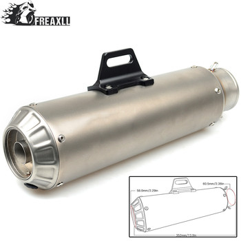 Universal 36-51mm MOTORCYCLE EXHAUST MUFFLER SCOOTER GP PIPE DIRT PIT BIKE  For honda shadow 600 bmw f800r honda xadv KTM