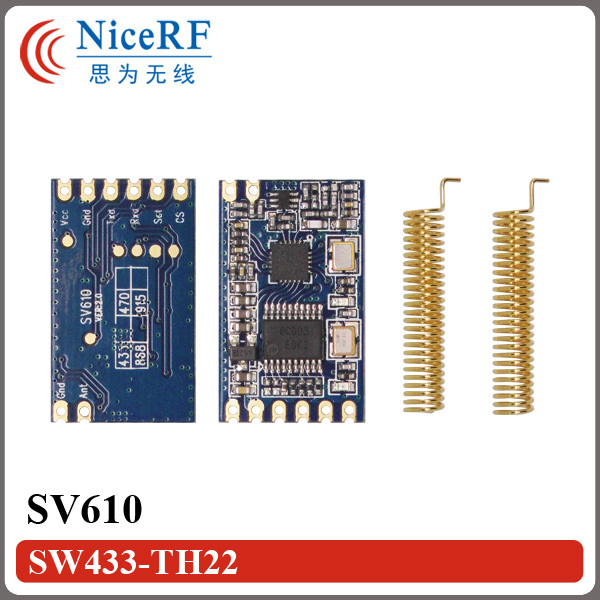 2pcs/lot SV610 100mW TTL interface 1400m Long distance 433MHz Wireless RF Module with Antennas