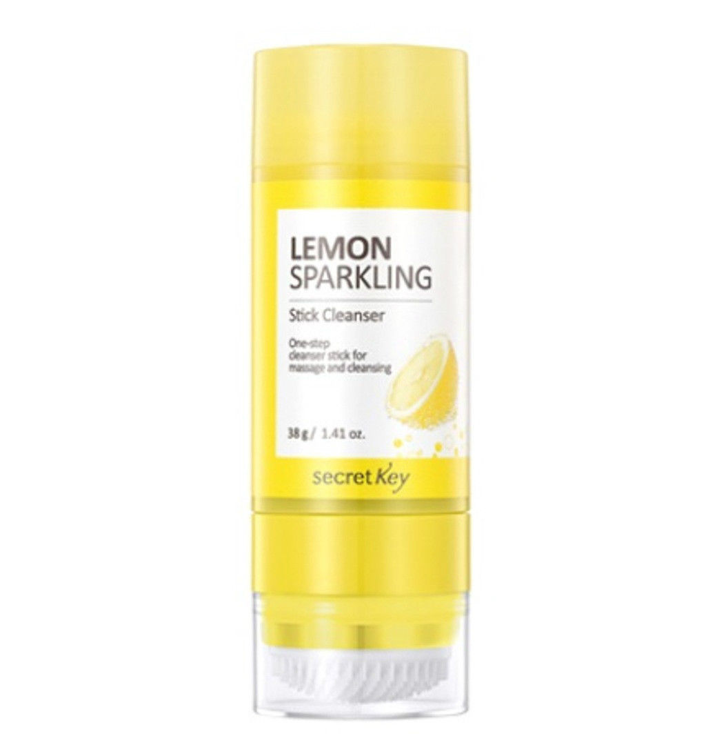 SECRET KEY Lemon Sparkling Stick Cleanser 38g Facial Cleanser Cleansing Foam Cleansing Remove Makeup Deep&soft Face Cleanser elsker 38g