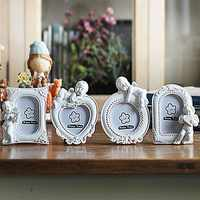 4 Pieces Photo Frame Small Frames Angel Picture Frame Set Decoration Home