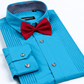 Nueva Llegada de los hombres camisas de vestir de Alta calidad camisas de Esmoquin masculino boda del novio camisa de la manera 2016 4xl mens camisas
