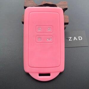 Image 2 - Чехол для автомобильного ключа ZAD, силиконовый резиновый чехол для Renault KOLEOS Kadjar Arkana 2017, для samsung QM5, набор из 4 кнопочных карт, чехол для смарт ключей
