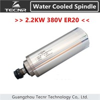 2 2KW Electric Water Cooling Spindle Motor 380V ER20 With 80MM Diameter For Cnc Router