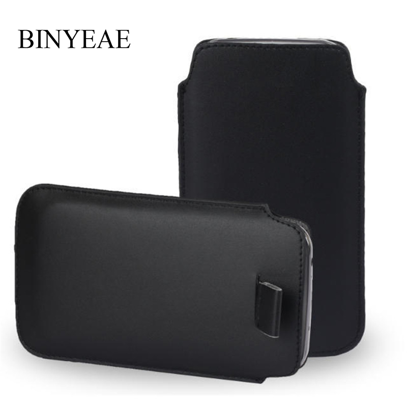 Leather Pouch Coque For <font><b>Alcatel</b></font> Pop 4 Plus <font><b>5056D</b></font> 5.5 inch Pocket Rope Holster Pull Tab Pouch Cover Accessories Phone Bag Case image