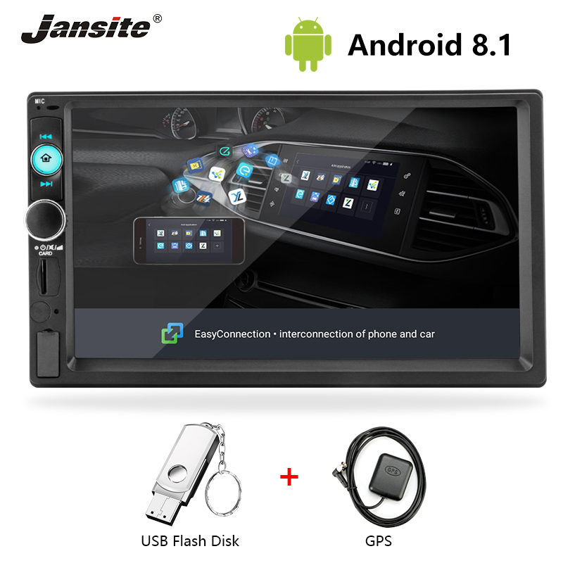 Jansite Car radio 7 inch Android multimedia player digital touch screen WIFI USB input  RCA input  audio video GPS navigatorJansite Car radio 7 inch Android multimedia player digital touch screen WIFI USB input  RCA input  audio video GPS navigator