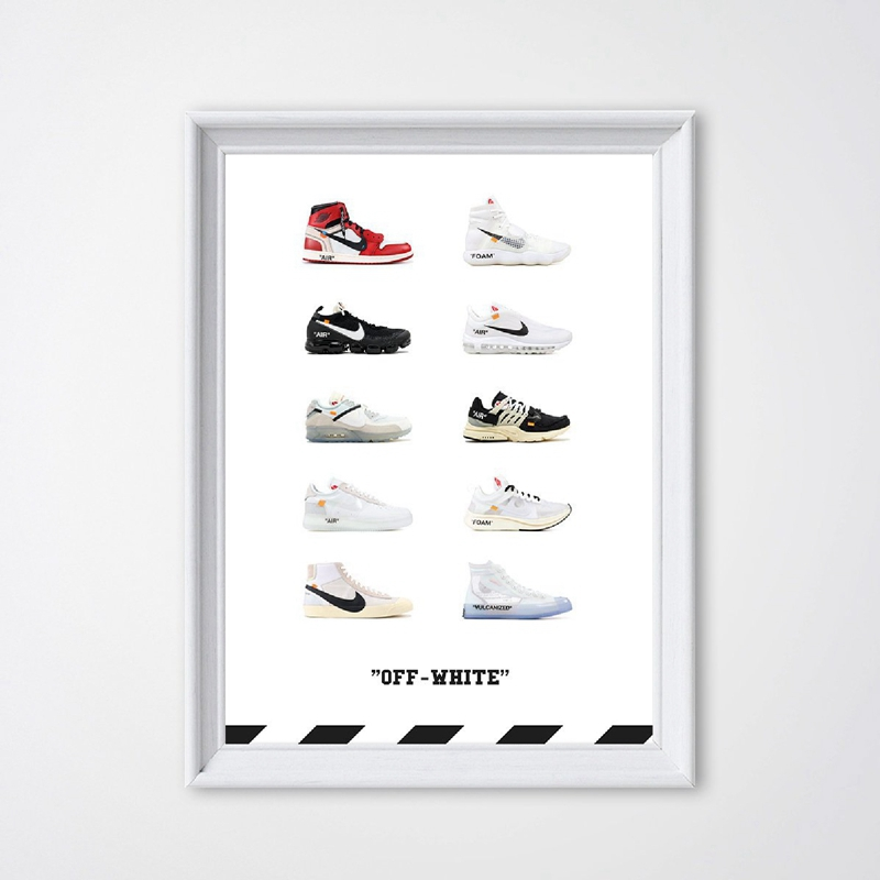 Classic History Fashion Sneaker Shoes Poster Print Popular Zoom Air Shoes Art Canvas Painting Picture Home Room Wall Art Decor