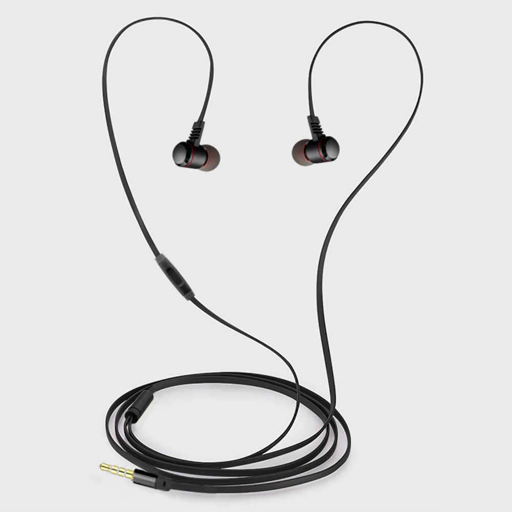 Qijiagu douszne metalowe słuchawki zestaw słuchawkowy sterowanie przewodowe dźwięk Stereo z mikrofonem słuchawki sportowe dla xiaomi PC MP3 MP4 różowe złoto