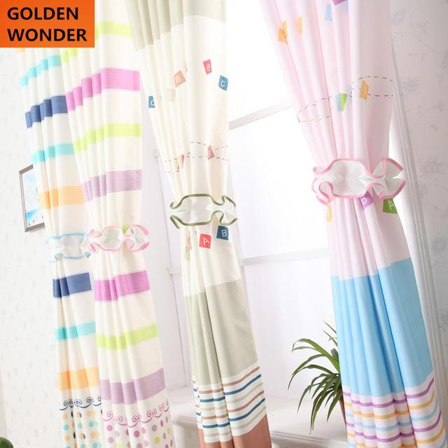 Charming Beautiful Short Curtains Bedroom Children Curtain Pink Blue Curtains For  Living Room Window Kids Chinese Sheer