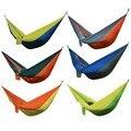 Portable 6 Colors Double Person Camping Survival garden hunting Leisure travel Parachute Hammocks 20cm x 12cm x 10cm