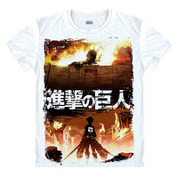 Japanese Anime T Shirt Scouting Legion Clothes Shingeki No Kyojin Tee Shirt Attack On Titan Giant