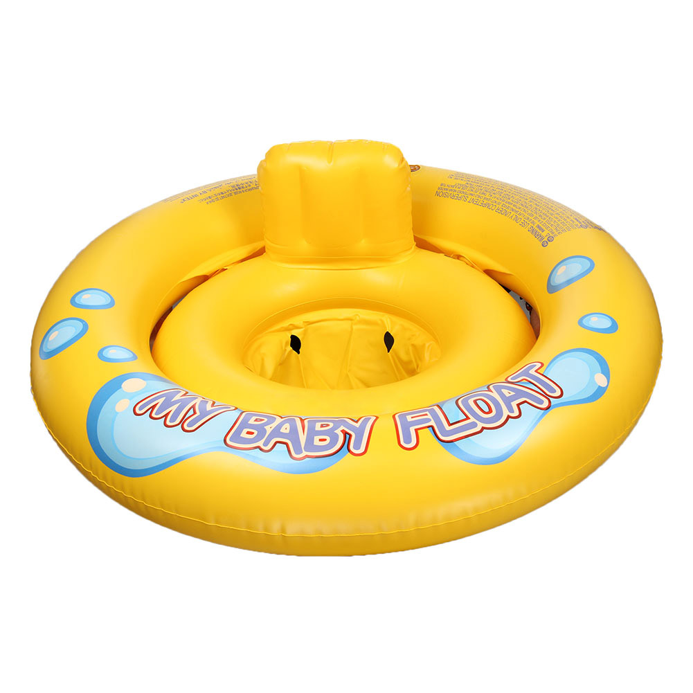 New Safety Babies Infant Seat Floats with Backrest My Baby Kids Swimming Pool Water Play Double Rings Float FJ88