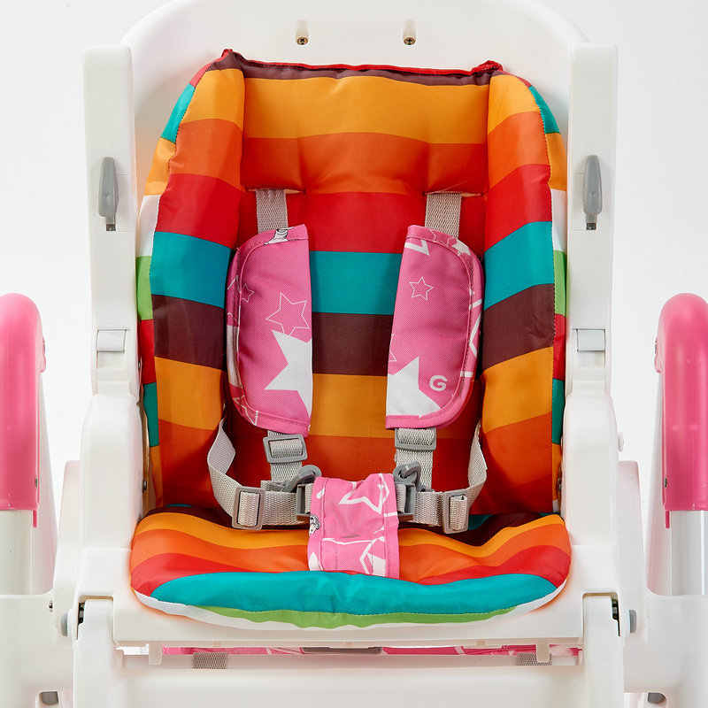 รถเข็นเด็กทารกสายรุ้งที่นั่งเบาะรถเข็นเด็กเก้าอี้สูง Pram รถสีสันสดใสนุ่มรถที่นั่ง Pad เด็กรถเข็นเด็กอุปกรณ์เสริม