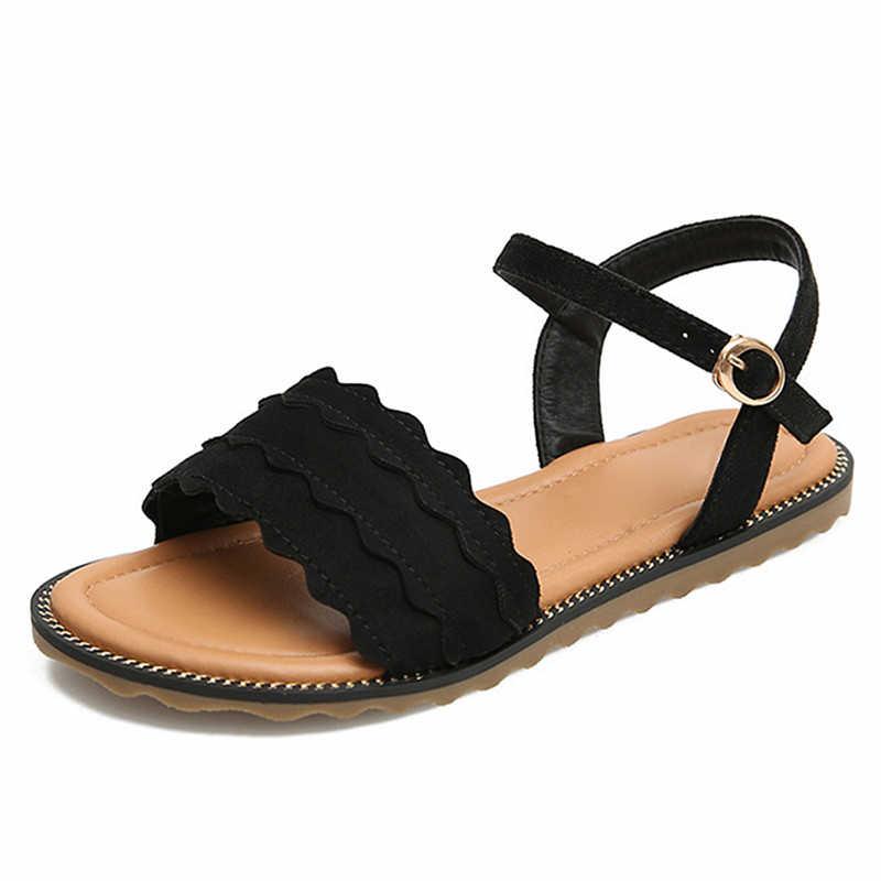 YAERNI แฟชั่นผู้หญิงรองเท้าแตะขนาดใหญ่ 41 42 43 สุภาพสตรีรองเท้าฤดูร้อน 2019 รองเท้าผู้หญิงรองเท้าแตะส้นแบนสำหรับวัยรุ่น