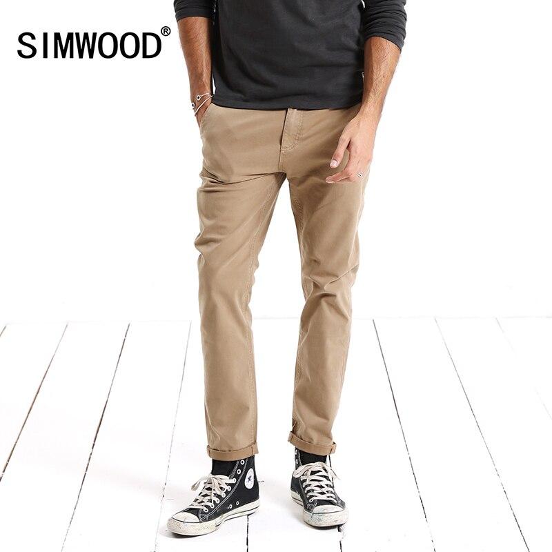 SIMWOOD Marca Calças 2019 Primavera Calça Casual Homens Slim Fit Moda Masculina de Alta Qualidade Plus Size Roupas Bottoms XC017029