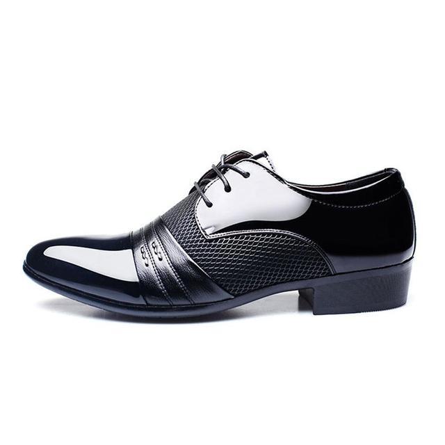 d5297ad0474 2018 primavera invierno hombres zapatos de vestir hombres zapatos planos  del negocio negro marrón hombres respirables