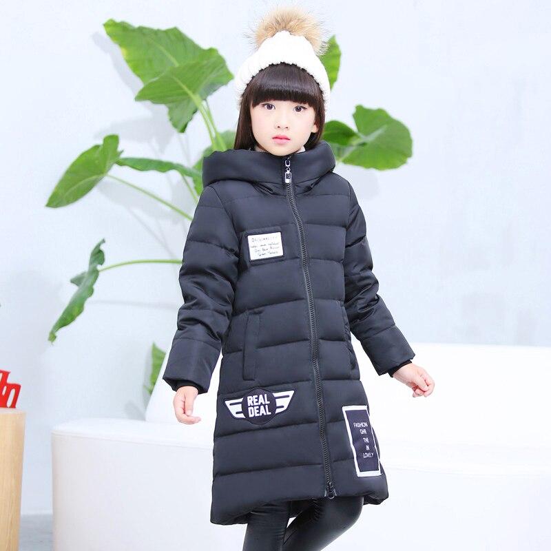 ФОТО Long Jacket Duck For Kid Padded Coats Infant Toddler Snowsuit Meisjes Winterjas Children's Winter Down Jacket Snow Wear 70Z014