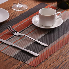 3pcs Brown Grey and Gold Placemats for Dining Table TPM-02(China)