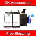 Черный Белый Цвет Для Sony Xperia M2 S50h M2 Aqua М2 Aqua D2403 ЖК-Дисплей + Touch Screen Digitizer Ассамблеи С Инструментами 1 Шт./лот