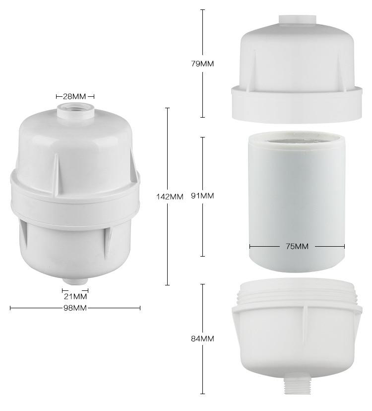 Фильтр для душа без химических веществ/насадка для душа Спа/спа-Ванна фильтр/очиститель воды с KDF и углеродом в сочетании, чтобы предложить