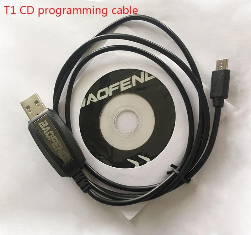 bilder für BEST Original BAOFENG zubehör USB Programmierkabel Für BAOFENG BF-T1 bf t1 mini radio walkie talkie mit CD firmware teile