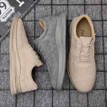 Misalwa 2020 Neue Echtes Leder Casual Schuhe Männer Faulenzer Wildleder Männer Schuhe Atmungsaktiv Outdoor Schuhe Zapatos Jugendliche Männer Turnschuhe