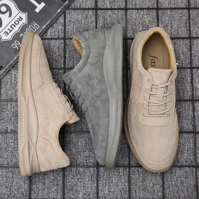Misalwa 2020 חדש אמיתי עור נעליים יומיומיות גברים ופרס זמש גברים נעליים לנשימה חיצוני נעלי Zapatos צעיר גברים סניקרס