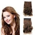 """Горячие продать 23 """"120 г 5 Клипов В Волосах расширения синтетический клип в наращивание волос длинные Вьющиеся женщин парики, русый hairextension"""
